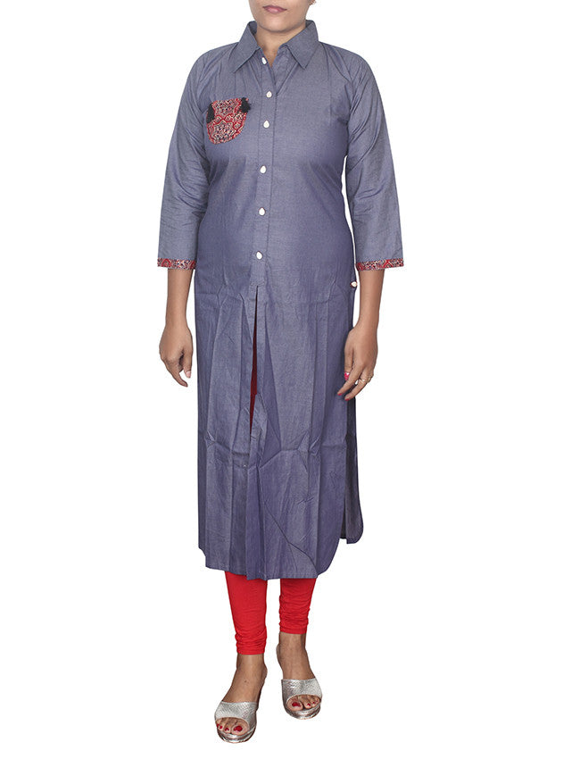 Beautiful blue designer kurti