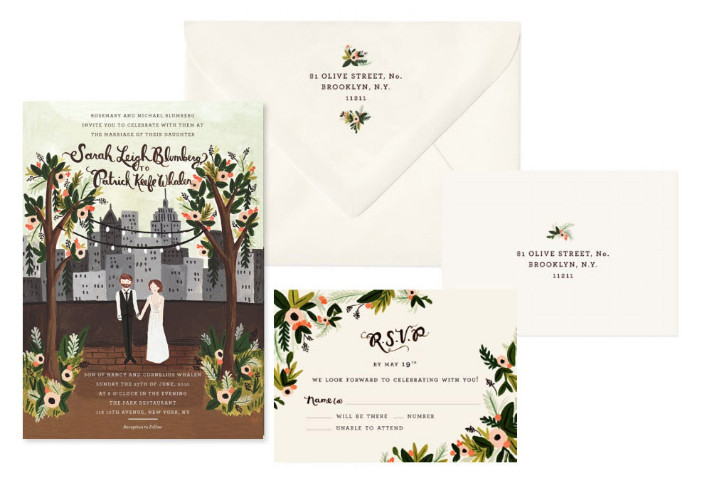 invitación boda Rifle Paper Co.