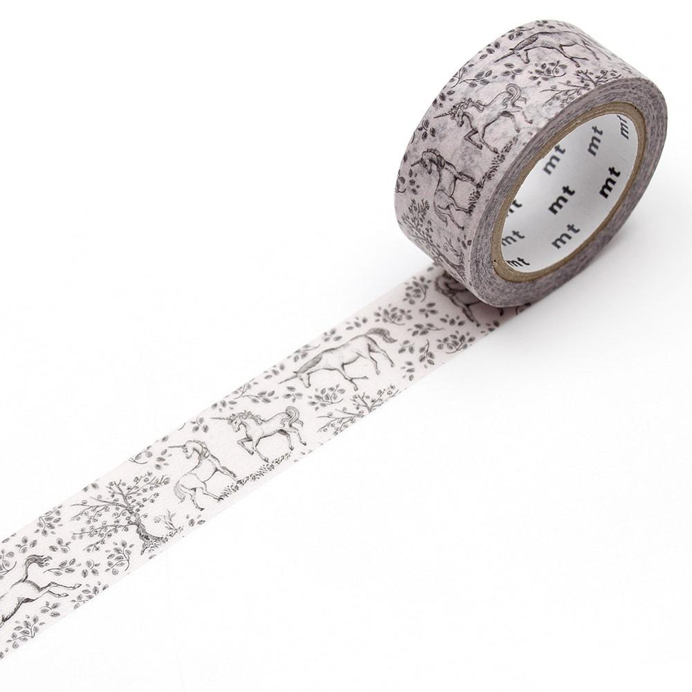 MT washi tape_unicornios_estilographica