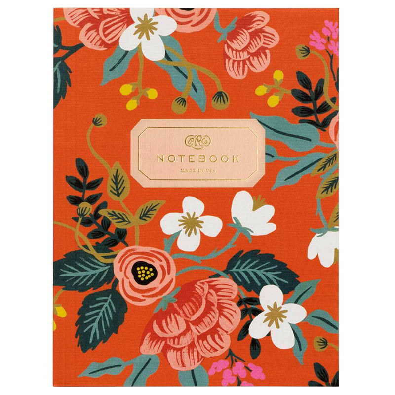 cuaderno rifle paper co_flores birch rojo_estilographica