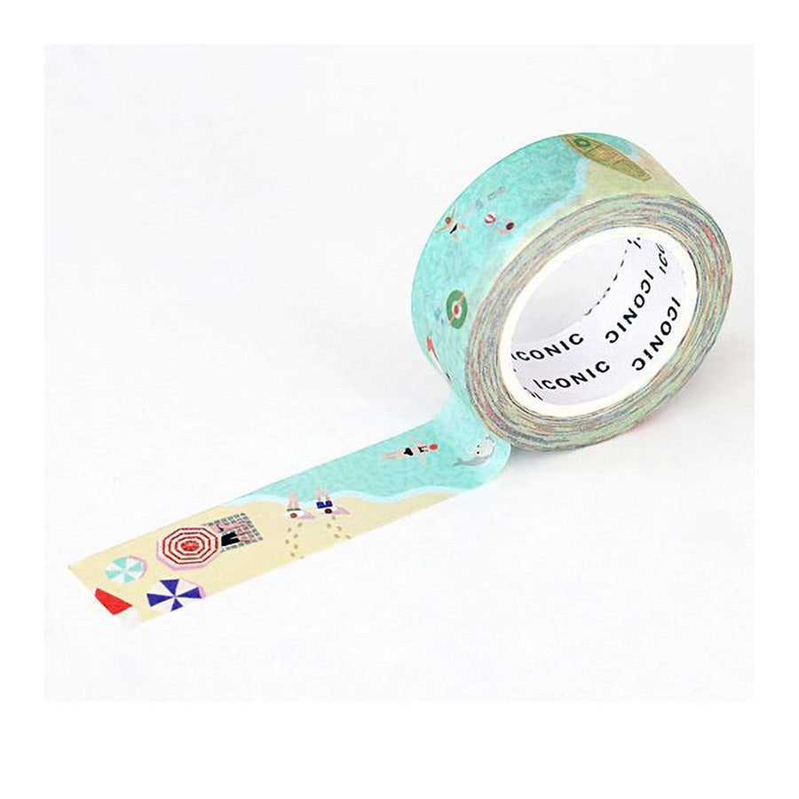 iconic washi tape_summer beach_estilographica