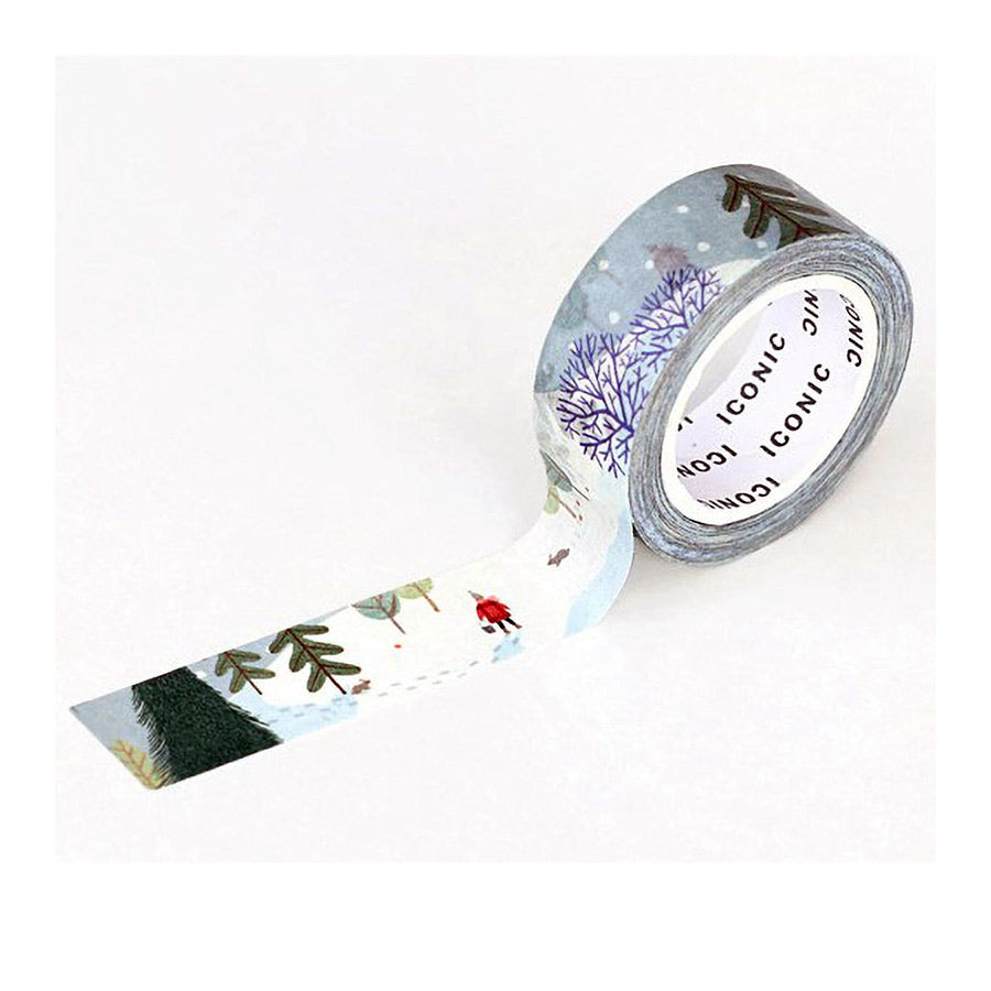 iconic washi tape_winter forest_estilographica