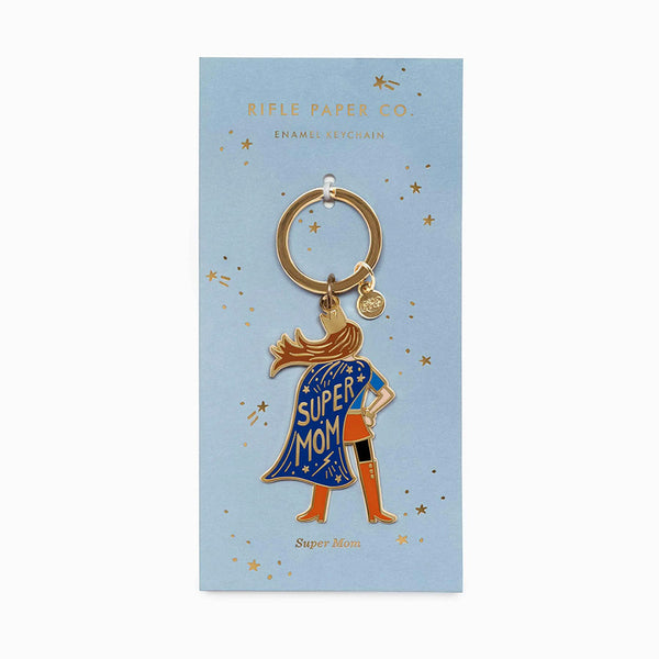RIFLE PAPER CO. - LLAVERO ESMALTADO – SUPER MOM
