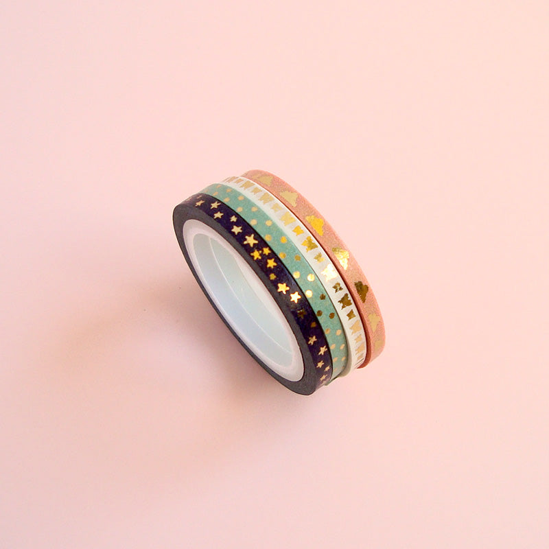 Mini washi tapes en estilo bohemio