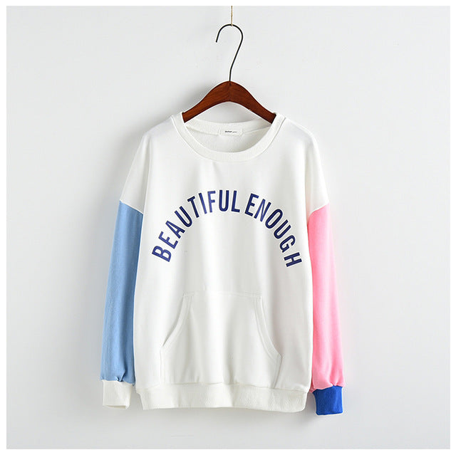 Beautiful Enough Sweatshirt white