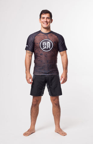 ATAMA BROWN RANKED RASH GUARD - LONG SLEEVE