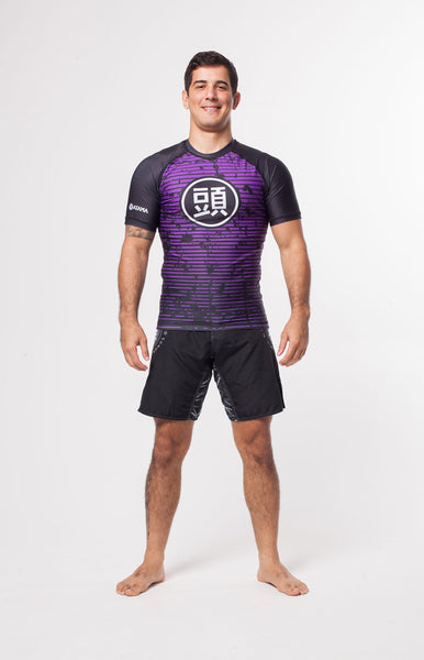 ATAMA PURPLE RANKED RASH GUARD - LONG SLEEVE