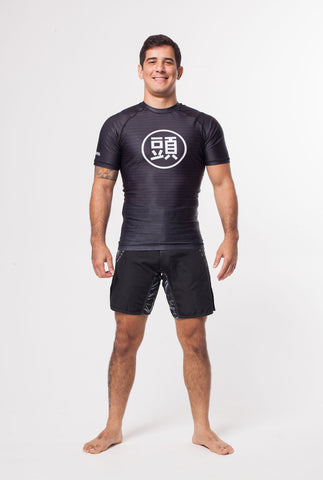 ATAMA BLACK RANKED RASH GUARD - LONG SLEEVE