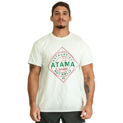 Atama Europe Accessories WHITE ATAMA HOT ROLLS T-SHIRTS