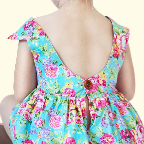 Blue Tea Rose Dress