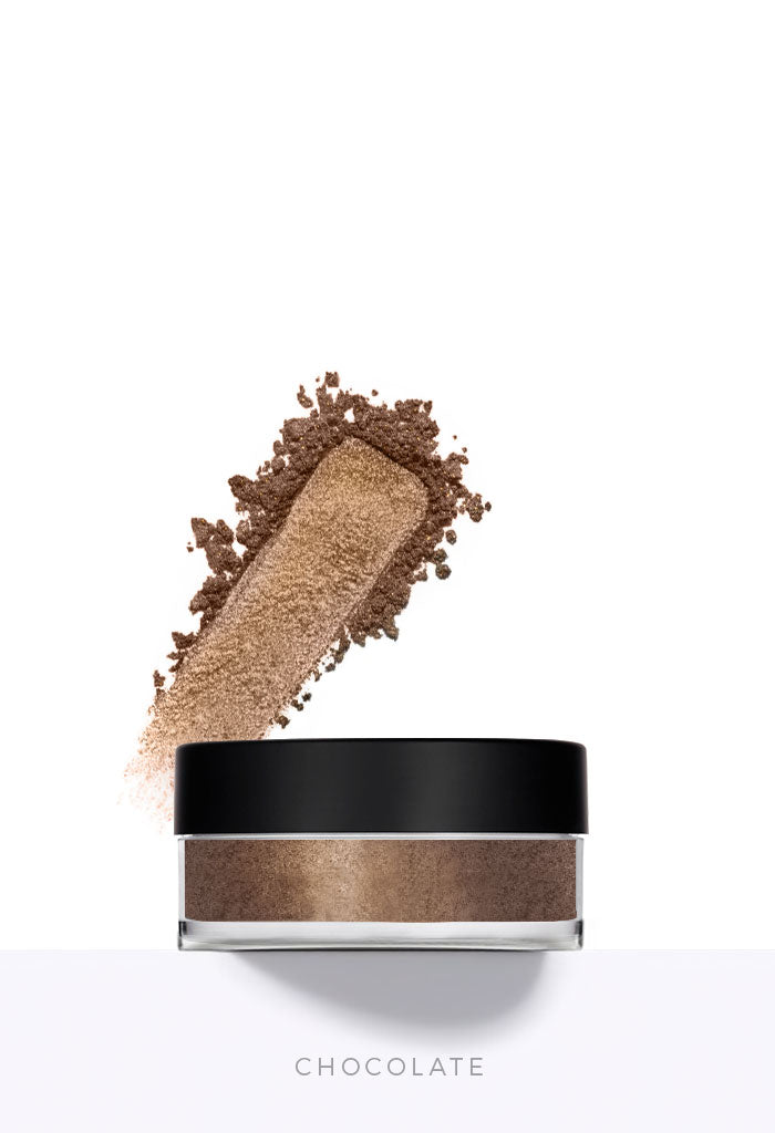 Chocolate Brown Loose Mineral Eyeshadow Wholesale Makeup Australian Made
