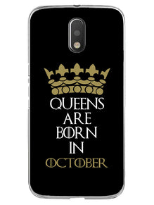 Queens October Moto E3 Mobile Cover Case