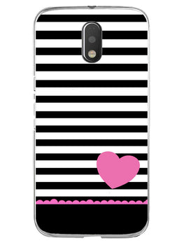 Stripes Heart Pink Moto E3 Mobile Cover Case