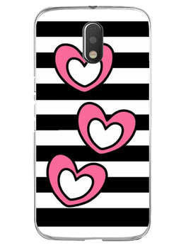Three Hearts Moto E3 Mobile Cover Case