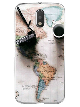Wanderer's Map Moto E3 Mobile Cover Case