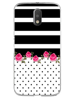 Rose Polka Stripes Moto E3 Mobile Cover Case