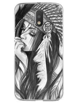 Triabal Girl Sketch Moto E3 Mobile Cover Case