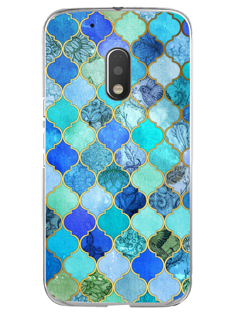 Morroccan Pattern Moto G4 Play Mobile Cover Case - MADANYU