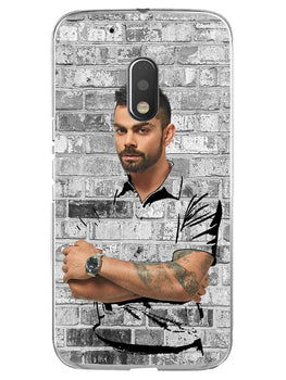 The Wall Of Kohli Moto G4 Play Mobile Cover Case