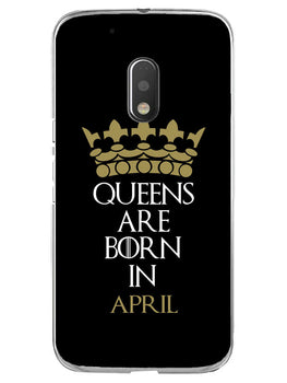 Queens April Moto G4 Play Mobile Cover Case