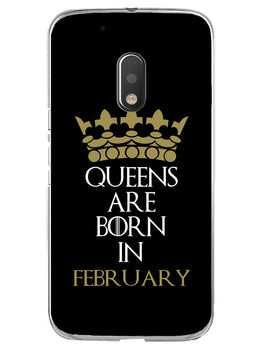 Queens February Moto G4 Play Mobile Cover Case