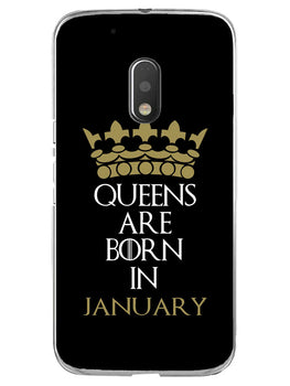 Queens January Moto G4 Play Mobile Cover Case