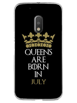 Queens July Moto G4 Play Mobile Cover Case