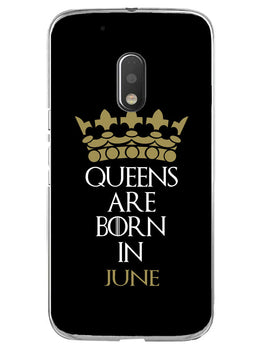 Queens June Moto G4 Play Mobile Cover Case