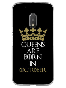 Queens October Moto G4 Play Mobile Cover Case