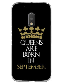 Queens September Moto G4 Play Mobile Cover Case