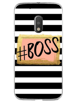 The Boss Moto G4 Play Mobile Cover Case