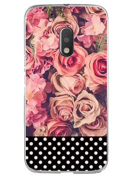 Polka Peach Rose Moto G4 Play Mobile Cover Case