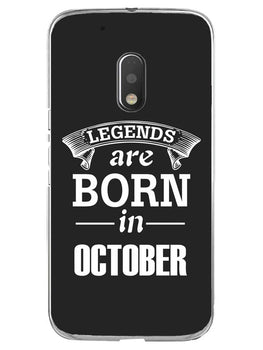Legends October Moto G4 Play Mobile Cover Case