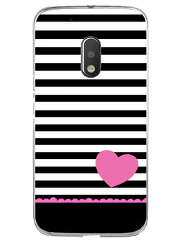 Stripes Heart Pink Moto G4 Play Mobile Cover Case