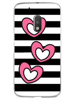 Three Hearts Moto G4 Play Mobile Cover Case