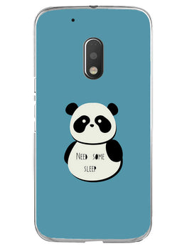 Sleepy Panda Moto G4 Play Mobile Cover Case
