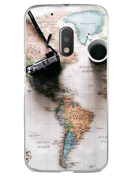 Wanderer's Map Moto G4 Play Mobile Cover Case