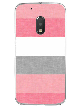 Pink White Stripes Moto G4 Play Mobile Cover Case