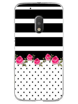 Rose Polka Stripes Moto G4 Play Mobile Cover Case