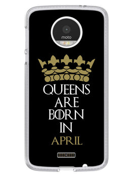 Queens April Moto Z Mobile Cover Case
