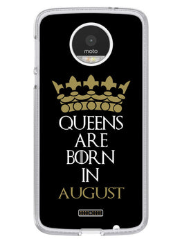 Queens August Moto Z Mobile Cover Case
