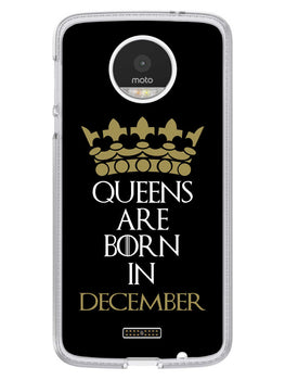 Queens December Moto Z Mobile Cover Case