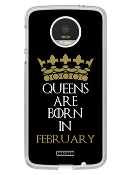 Queens February Moto Z Mobile Cover Case
