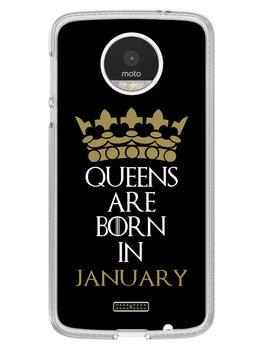 Queens January Moto Z Mobile Cover Case