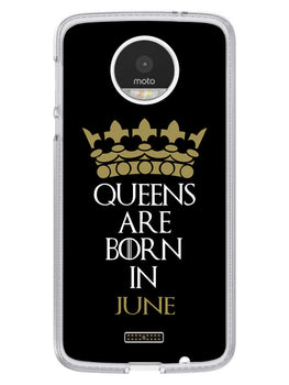 Queens June Moto Z Mobile Cover Case