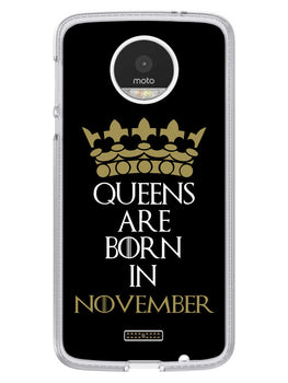 Queens November Moto Z Mobile Cover Case