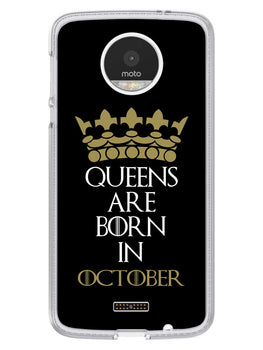 Queens October Moto Z Mobile Cover Case