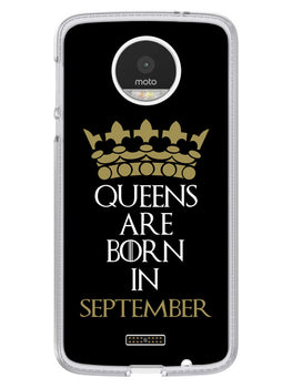 Queens September Moto Z Mobile Cover Case