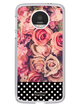 Polka Peach Rose Moto Z Mobile Cover Case