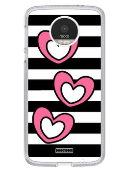 Three Hearts Moto Z Mobile Cover Case